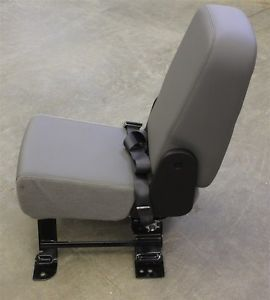 Chevy Truck Vinyl Center Jump Seat Console with Cup Holders Silverado GM Used