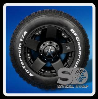 "18"" XD Rockstar Black with Lt 275 70 18 BFG All Terrain T A Tires Wheels Rims"
