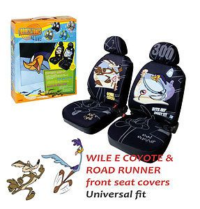 Wile E Coyote Road Runner Looney Tunes Warner Bros Front Car Seat Covers