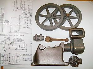 """Model Associated """"Hired Man"""" Hit Miss Engine Castings Drawings Water Cooled"""