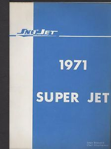 1971 Sno Jet Snowmobile Super Jet Engines Parts Manual Used