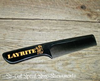 Layrite Pocket Comb Mens Grooming Hair Rockabilly Pompadour Hot Rod Rat VLV