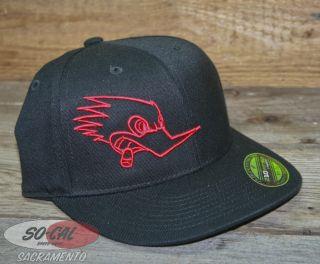 Clay Smith Hat Flexfit Mr Horsepower Vtg Woodpecker Logo Rat Hot Rod Custom SM