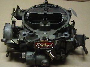 Edelbrock 1902 Quadrajet Carburetor Carb Chevy 350 454 Rochester 4
