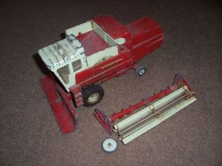 1971 Ji Case IH International 915 Combine Farm Toy Used Metal Reel Custom Parts