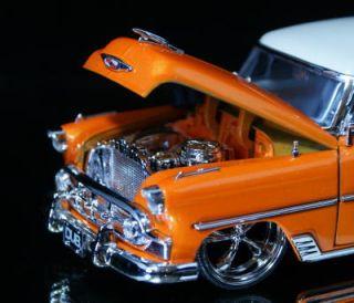 1953 Chevy Bel Air Dub City Old Skool 1 24 Scale Orange