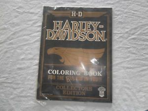 Collectors Edition Harley Davidson Coloring Book Licensed Product 1986