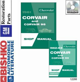 1961 1962 1963 Chevrolet Corvair Shop Service Repair Manual CD Engine Wiring