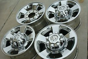 "Dodge RAM 2500 3500 17"" Factory Aluminum Alloy Wheels Rims Chrome Clad"