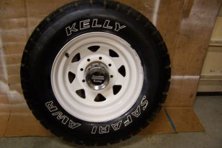 4 American Racing Rims 8 Lug Centers with Kelly Safari AWR Tires 31 10 50 16 5