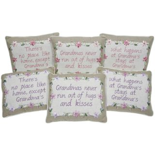 Grandma Embroidered Sentiment Country Cushion 3 Phrases Available