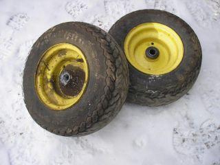 John Deere Tractor Lawn Mower 212 Firestone Front Turf Tires Rims 16x6 50 8