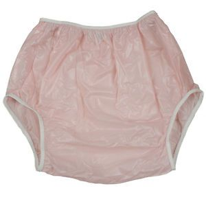 X Large Pink Leakmaster Adult Pull on Plastic Pants
