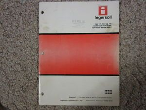 Ingersoll Case 108 111 112 114 116 Garden Tractor Owners Maintenance Manual