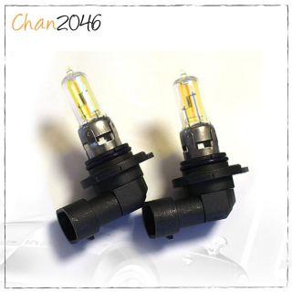 9005 HB3 Diamond Yellow 100W 3000K Halogen High Beam Bulbs 02 06 07 Honda Accord