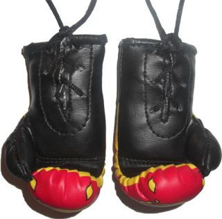 Sri Lanka Mini Punch Boxing Gloves Car Mirror Mascot
