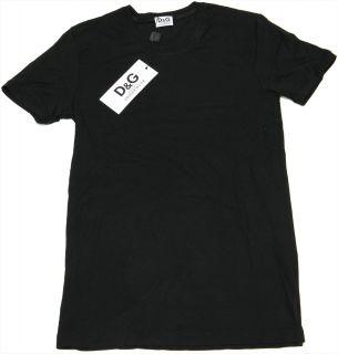 """Dolce Gabbana """"Milan"""" Herren Rundhals T Shirt Modal Dessous D G Schwarz Neu"""