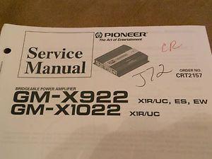 GM X922 GM X1022 Pioneer Original Car Audio Amp Amplifier Service Repair Manual
