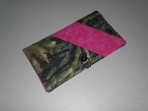 Mossy Oak Camo Hot Pink Check Book Cover Credit Card Holder Money Holder