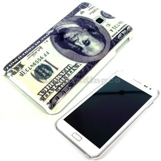 Cover Case Samsung Galaxy Note at T i717 N7000 US Dollar Bill Pattern USD
