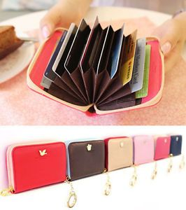 Faux Leather Accordion Card Case Ver 2 Shinzi Katoh Credit Card Holder Wallet