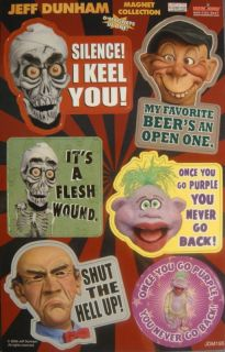 Jeff Dunham Achmed Walter Peanut Bubba Magnet Pack New