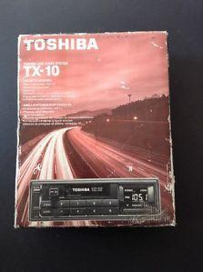 Vintage Car Truck Cassette Receiver Toshiba TX 10 Car Audio System Old School