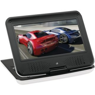 """GPX Portable 9"""" DVD Player Portable Cinma LCD Screen Seivels Folds Down New"""