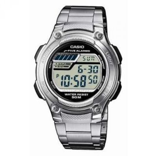 New reloj Casio Modelo Caballero Acero Illuminator Five Alarms w 212HD 1AVEF