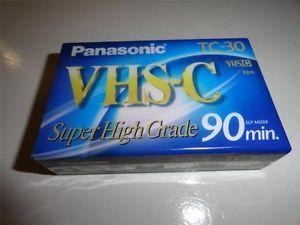 Panasonic VHS C Super High Grade 90min SLP TC 30 Video Cassettes NV TC30AH
