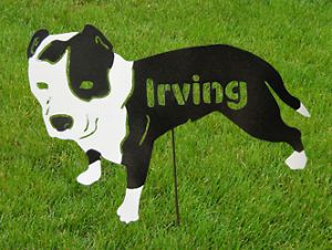 Custom Dog Breed Garden Stake Pet Memorial Personalized Dog Breed Sign Art