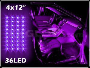 purple 36led car interior seat dashboard trunk underglow neon accent