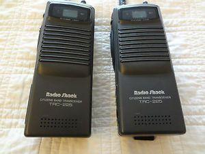 Pair 2 TRC 225 Radio Shack 40 Channel CB Radios Walkie