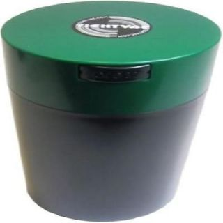 Tightvac 12oz Vacuum SEALED Dry Goods Storage Container Black Body Forest Green