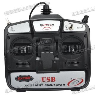 Dynam RC Tech 6 Channel USB R C Airplane Helicopter Flight Simulator with FMS GL