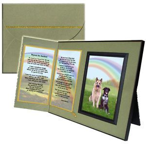 """Beyond The Rainbow"" Poem Pet Loss Sympathy Frame Gift and Memorial Keepsake"