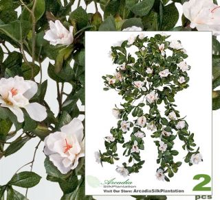 "2 Azalea 30"" Artificial Hanging Flower Silk Plant 128WH"