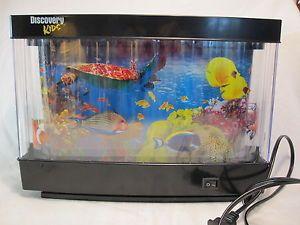Discovery Kids Animated Marine Lamp Wall Mountable Exotic Fish Tank Aquarium