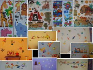 Boys Babies Children's Bedroom Nursery Wall Stickers Dinosaur Pirate Car Space