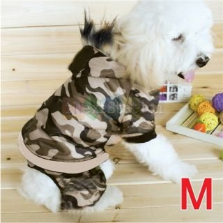 Cool Pet Dog Puppy US Army Coat Clothes Hoodie Sweater T Shirt Apparel Size M