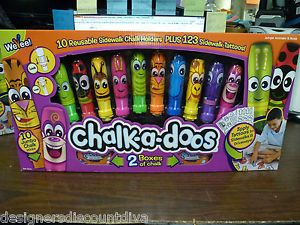 New Sidewalk Chalk Holders CalK A Doos Plus 123 Sidewalk Tattoos Free Shipping