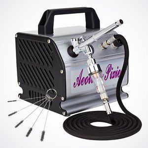 Professional Dual Action Airbrush Kit Air Brush Compressor 5pcs Cleaning Brush