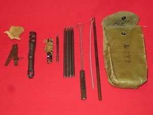 WW1 or WW2 1903 Springfield Rifle Cleaning Kit Take Down Tool Brushes Rods
