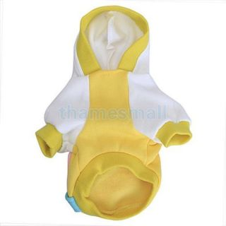 Pet Dog Warm Hoodie Hooded Coat Clothing Clothes Apparel w Pig Zipper Bag XL