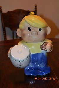 Vintage 1930s Dennis The Menace Cookie Jar Very RARE Has Repair Looks Great