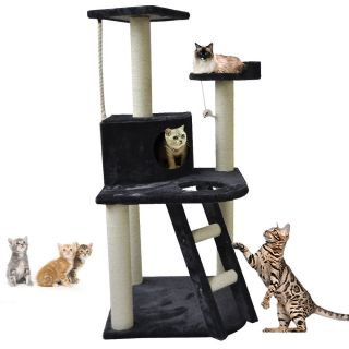 "New 47"" Navy Cat Tree Condo Furniture Scratch Post Pet House"