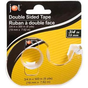 "Lot of 3 Jot Double Sided Clear Tape 3 4""x 300"" Each Roll"