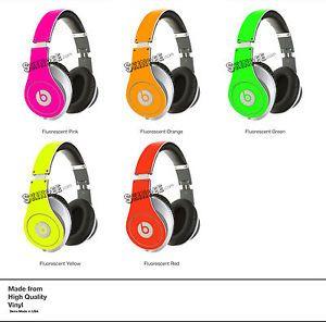 Green Neon Skin Kit for Monster Beats by Dr Dre Studio Headphones