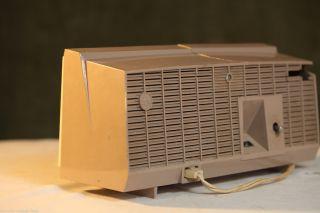 Vintage Mid Century RCA Victor Clock Radio 1950s Vacuum Tubes