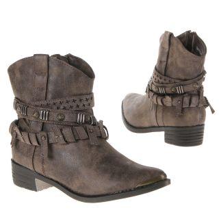 Luxus Neu Designer Damen Schuhe Stiefel Stiefeletten Nieten Used Optik RC8G 0€